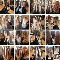 Diy Balayage at Home . Luxury Diy Balayage at Home Tips. Hair Color Placement, Hair Highlights And Lowlights, Highlights At Home, Ombre Highlights, Balayage Technique, Balayage Hair Tutorial, Hair Color Techniques, Super Hair, Hair Painting