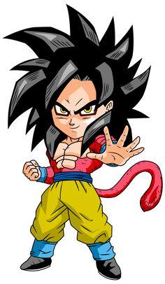 Chibi Super Saiyan 4 Goku, Dragon Ball Z desktop wallpapers, backgrounds, images… Dragon Ball Gt, Dragon Ball Z Shirt, Chibi Goku, Super Saiyan 4 Goku, Goku Super, Chibi Marvel, Cartoon, Thanos Marvel, Deviantart