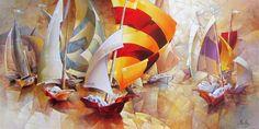 Voiliers en fête - Brutsky, Nathan - Artistes - Galerie Beauchamp