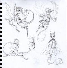 Sketches - Tak by sambees on deviantART