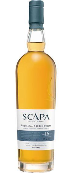 Buy Scapa 16 Year Old Single Malt Scotch online and have single malt scotch whisky shipped fast! Best price on Scapa Distillery single malt scotch at Ace Spirits. Scotch Whiskey, Bourbon Whiskey, Vodka, Single Malt Whisky, Liquor Bottles, Wine And Beer, Wine And Spirits, Distillery, Alcoholic Drinks