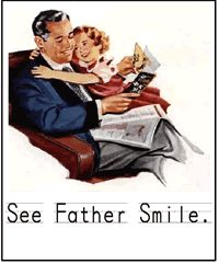 Vintage father card