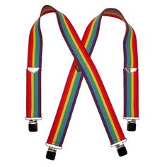 Welch Mens Big & Tall Elastic Ombre Stripe Clip End Suspenders