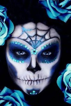 Top 10 Last Minute Makeup Tutorials For Halloween | Sugar skull ...