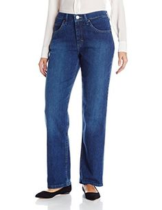 Riders by Lee Indigo Women's Classic Fit Straight Leg Jean, Antique Dark, 14 Long Straight-leg jean with five-pocket styling and zip fly with button closure Embroidered back pocket Sits just below the natural waist Best Plus Size Jeans, Lee Jeans, Women's Jeans, Jeans Store, Pants For Women, Clothes For Women, Jeans Women, Type Of Pants, Jean Outfits