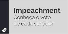 Saiba como votou cada Senador pelo Impeachment da Presidente Dilma Roussef.