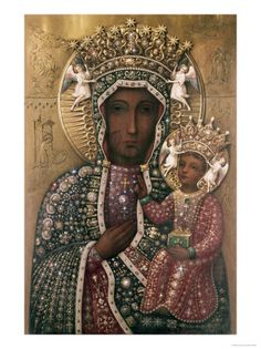 Black Madonna of Czestochowa ~Repinned Via Gerda Engels