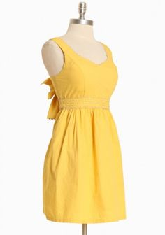 Simple Yellow Dress~ My Closet needs one of these for Spring