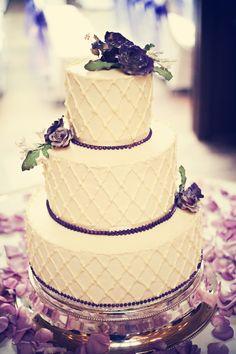 subtle diamond white.  #WeddingCakesMinneapolis #WeddingCake