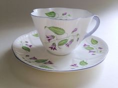 Shelley Campanula Teacup and Saucer / Shelley by AprilsLuxuries
