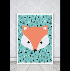 """Plakat """"fox"""" format 20x30 - PosterMonster - Plakaty dla dzieci"""