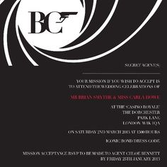 How to Write a James Bond Party Invitation James bond party Party