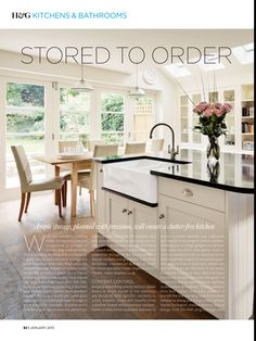 Shaker Kitchen by John Lewis of Hungerford.  Designed by Jacinta Pratt.    Homes & Gardens magazine.