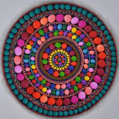 Circles and more circles meditative mandala coloring page Dot Art Painting, Mandala Painting, Mandala Art, Painting On Wood, Wood Paintings, Watercolor Paintings, Abstract Art, Tile Crafts, Festival Celebration