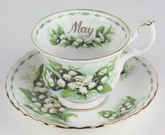 Vintage Royal Albert Teacup & Saucer - Flower of The Month Series 1970 - May - Lily of The Valley | eBay