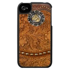 "Tooled Leather ""Comanche""  Western case for your phone"