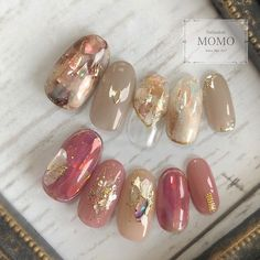 Pin by あろん on ネイル in 2019 Flower Nail Designs, Ombre Nail Designs, Nail Art Designs, Design Art, Opal Nails, Pink Nails, My Nails, Glitter Nails, Cute Toe Nails
