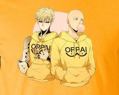 Caped Baldy Saitama One Punch Man Oppai Lounging T-Shirt Tee