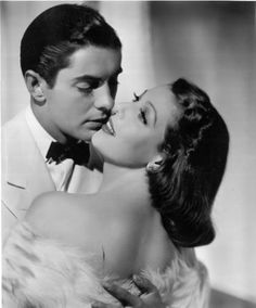 Tyrone Power & Loretta Young 1930s/1940s made 5 movies together in a row. They were so beautiful that the audiences fell in love with them as a couple.