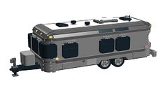 Has anyone ever built a LEGO Airstream? I was to the LEGO store in Downtown Disney this weekend and they had LEGO everything - except an AirStream. Has anyone ever tried to make one from LEGOs? Lego Camper, Lego Store, Downtown Disney, Lego Creations, Lego City, Airstream, Legos, Trains, Vw