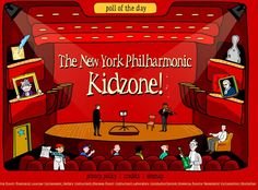 New York Philharmonic kids page – heaps of great musical activities Music Lesson Plans, Music Lessons, Piano Lessons, My Music Teacher, Music Teachers, Music Education Activities, Listening Activities, Physical Education, Music Websites