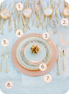 pink and lace table setting