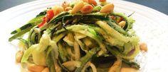 RECEPT | Zucchetti met pit - salade van rauwe courgette