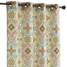 Vibrant Paisley Grommet Curtain Downstairs Bathroom