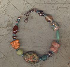 Good Karma Lucky charm boho beaded bracelet trade by JunqueJules