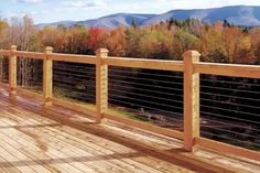 Madden Industries offers wire deck railing, Cable Railing Kits, Cable Railing Components, cable deck railing kits, stainless steel cable railing kits at best prices. Shop now. Deck Railing Systems, Wood Deck Railing, Deck Railing Design, Patio Handrail Ideas, Railings For Decks, Cable Deck Railing, Horizontal Deck Railing, Rope Railing, Deck Balusters