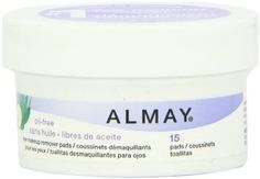 Almay Oil Free Eye Makeup Remover Pads, 15 Count, ounce: Oil-free pads gently remove eye makeup in one easy step with no greasy mess. Hydrates and soothes skin with aloe, cucumber and green tea. Eye Make-up Remover, Makeup Remover Pads, Travel Makeup Essentials, Cucumber On Eyes, Eye For Beauty, You Look Beautiful, Free Makeup, Travel Size Products, Eyes