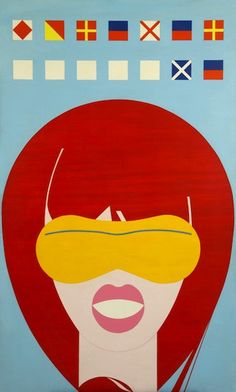 """""""The VENUS Series"""", American Venus - Silkscreen, GraphicArt, by Ladislav Sutnar (b.1897 - d.1976, Czechoslovakia).  ~  The """"Venus"""" series (which were shown in a few New York galleries between 1966 and '69 and at the Art Directors Club in 1975)."""