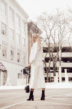 White Jumper Spring Fashion @kyliecallander