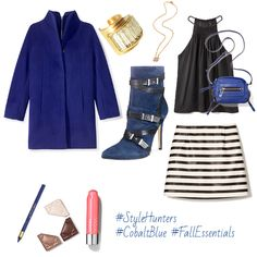 Check out my moodboard of Marissa's Picks for October! #StyleHunters #CobaltBlue #FallEssentials