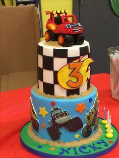 Blaze birthday cake.