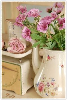 Love the flowers and pitcher