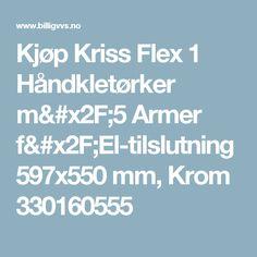 Kjøp Kriss Flex 1 Håndkletørker m/5 Armer f/El-tilslutning 597x550 mm, Krom 330160555