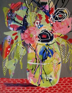 """Most paintings above have already been sold, however, current collection and many prints are available in my store. """"It is strange how deeply colors seem to penetrate one, like scent."""" - Middlemarch, George Eliot Why Motif Floral, Arte Floral, Sculpture Textile, Abstract Flowers, Flower Painting Abstract, Flower Paintings, Arte Pop, Art Graphique, Love Art"""