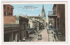 Chartres Street New Orleans Louisiana 1920s postcard
