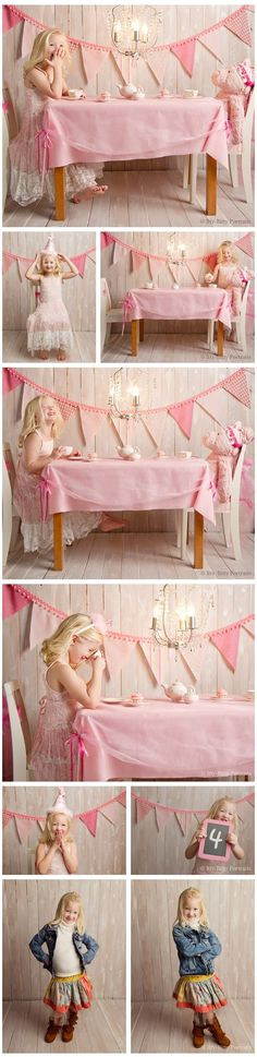 Love the idea of a tea party picture session! What a great way to celebrate a birthday!