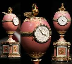 Faberge clock presented to Baron Edouard de Rothschild as an engagement gift by Peter Carl Faberge in 1902.