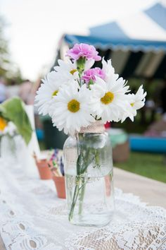 Daisies + carnations - Nova Scotia Wedding from Chloe O'Brien Photography