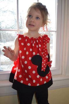 Adorable Minnie Mouse Pillowcase Dress or Top by pieshomecreations, $17.00 @Jessica Fields