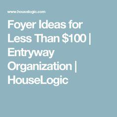 Foyer Ideas for Less Than $100 | Entryway Organization | HouseLogic