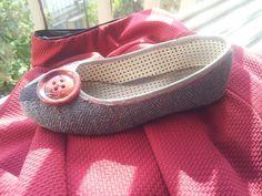 Zapato forrado con tela