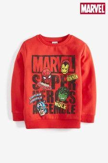 Buy Marvel® Crew from the Next UK online shop Comic Clothes, Next Uk, Baby Design, Swim Shorts, Uk Online, Unisex, Graphic Sweatshirt, T Shirt, Kids Boys
