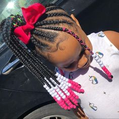 Most up-to-date No Cost Easy & Trending Braids Hair Style Ideas Tips Have you been bored by the old hairstyles of the ponytail? In that case, then try using General brai Box Braids Hairstyles, Toddler Braided Hairstyles, Toddler Braids, Black Kids Hairstyles, Baby Girl Hairstyles, Natural Hairstyles For Kids, Braids For Kids, Girls Braids, Braids Easy