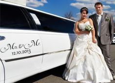 carsticker wedding - Mrs. and Mr.