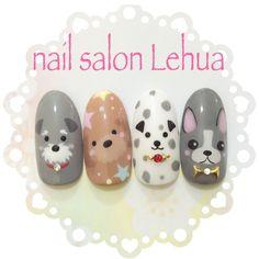 Super nails art korean tutorials Ideas - All For Hair Color Trending Dog Nail Art, Animal Nail Art, Dog Nails, Nail Art Simple, Trendy Nail Art, Cute Nail Art, Korean Nail Art, Korean Nails, Kawaii Nails