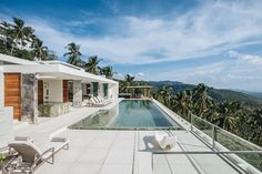 LA style open space living in a villa nestled among palm trees and overlooking the blue sea  - what else do you need?  #kohsamui #samui #thailand #asianluxuryvillas
